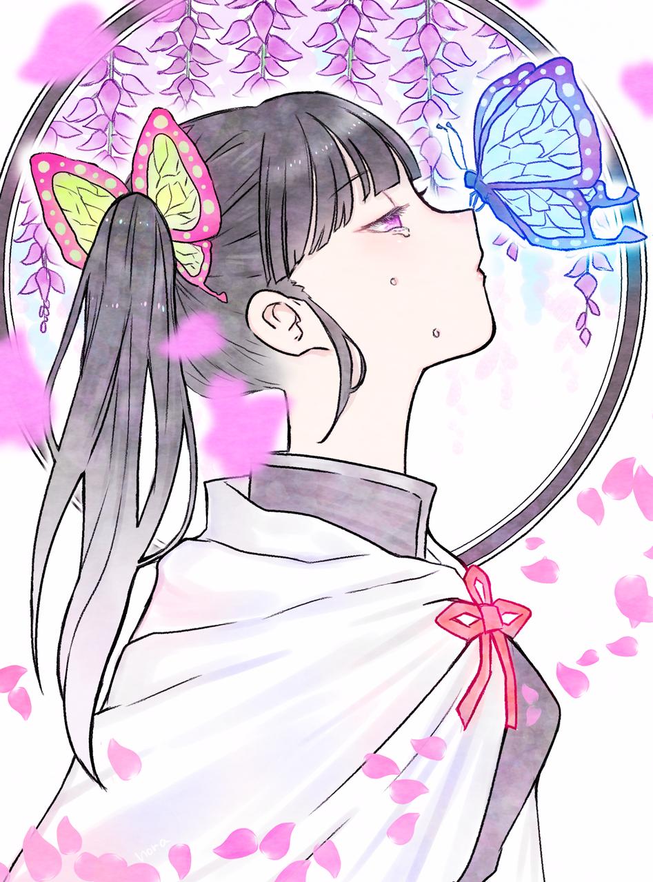 想う Illust of nora DemonSlayerFanartContest KimetsunoYaiba 黒髪 sideface TsuyuriKanao medibangpaint