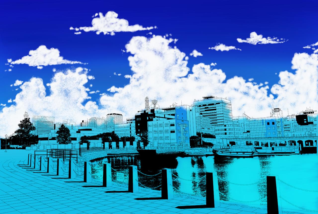 Blue Illust of FiinArt BackgroundImageContest_Coloring_Division Background_Image_Contest medibangpaint