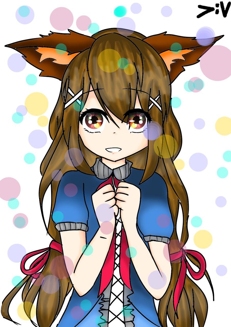 Fox girl yang sudah berwarna :v