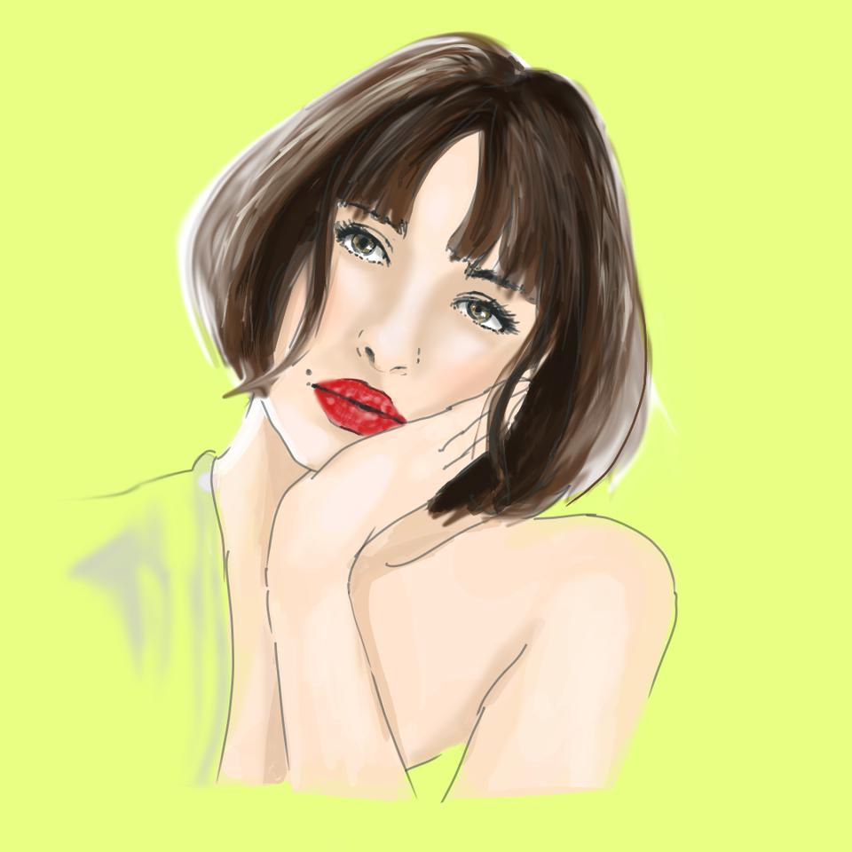 Irene Illust of daudnov medibangpaint portrait female beauty model face