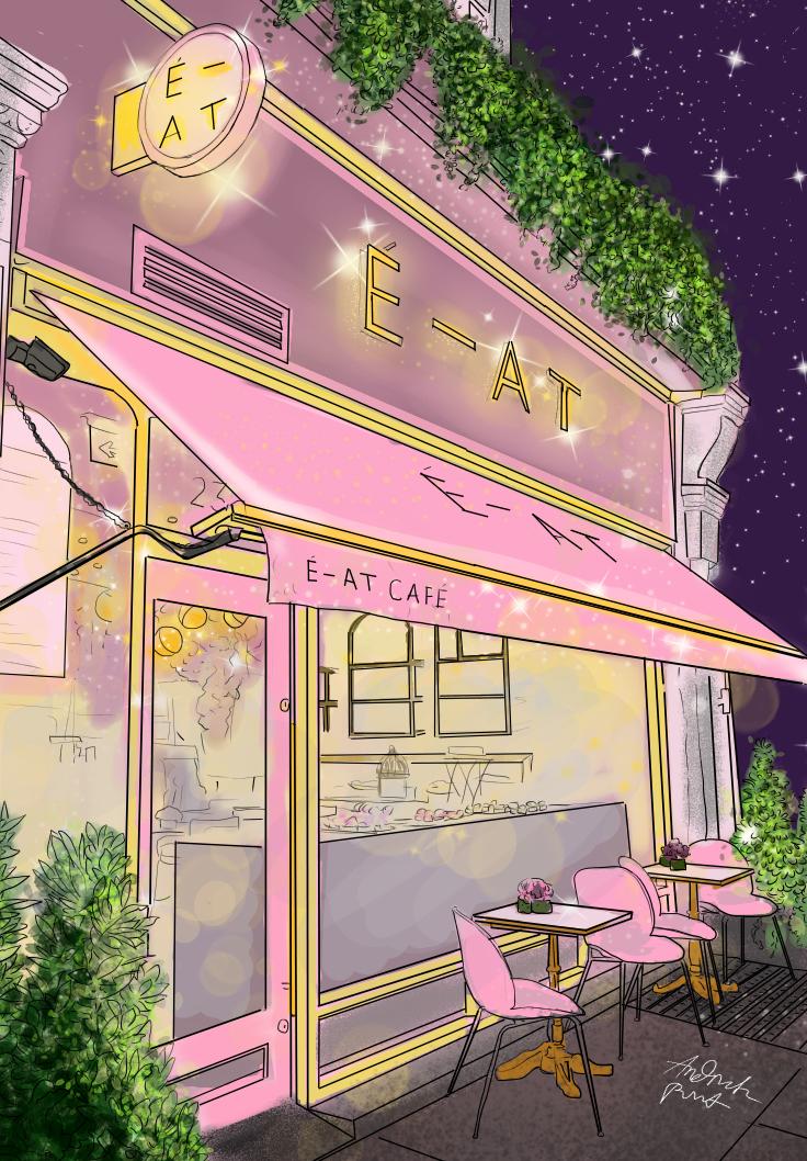 Esterior Eatry Shop Illust of Andinatz medibangpaint iPad_raffle