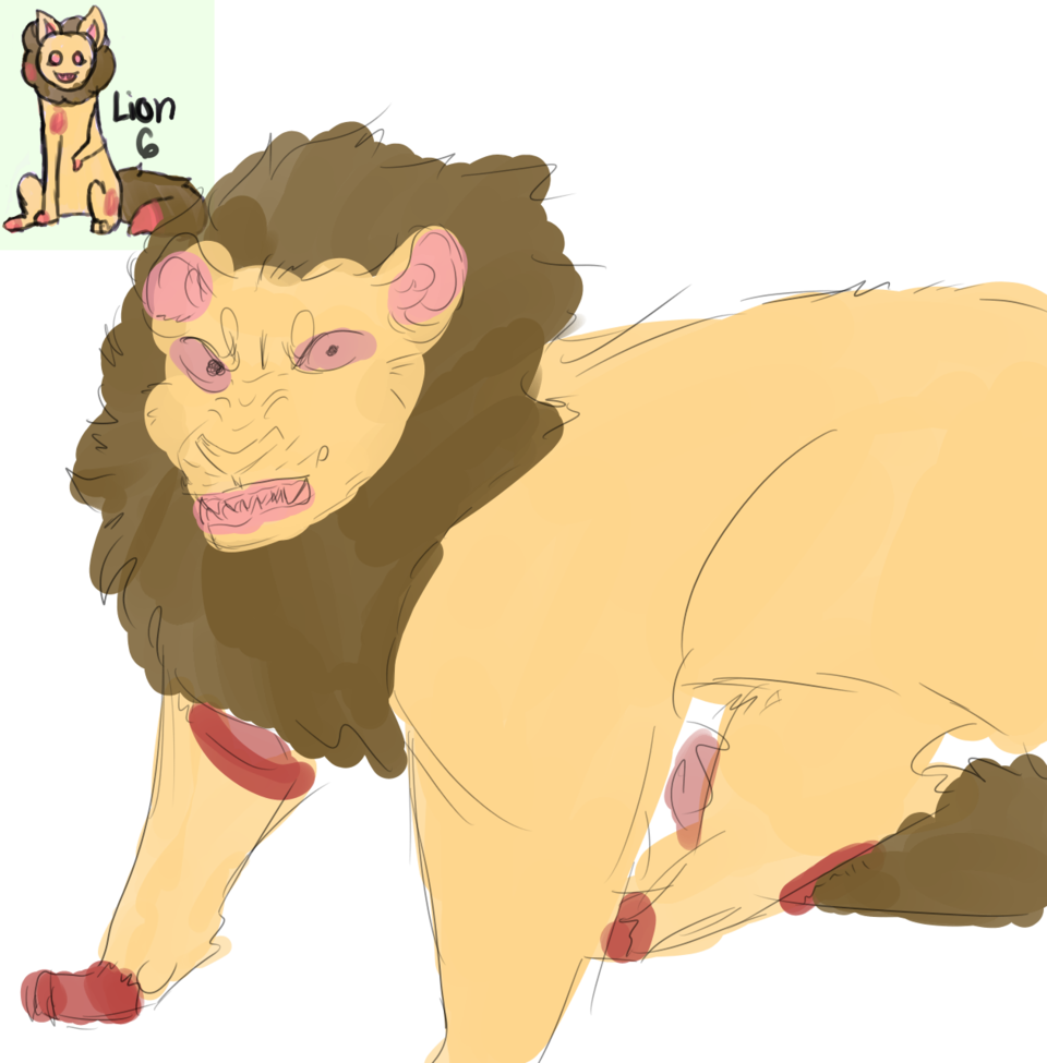 warm up sketch (adopt from GrassyAvacado) Illust of .•♬• sᴏᴄᴋ-ʙᴀɪᴛ™ •♬•. Skye medibangpaint adopt sketch crEePy messy Lion bruh ew