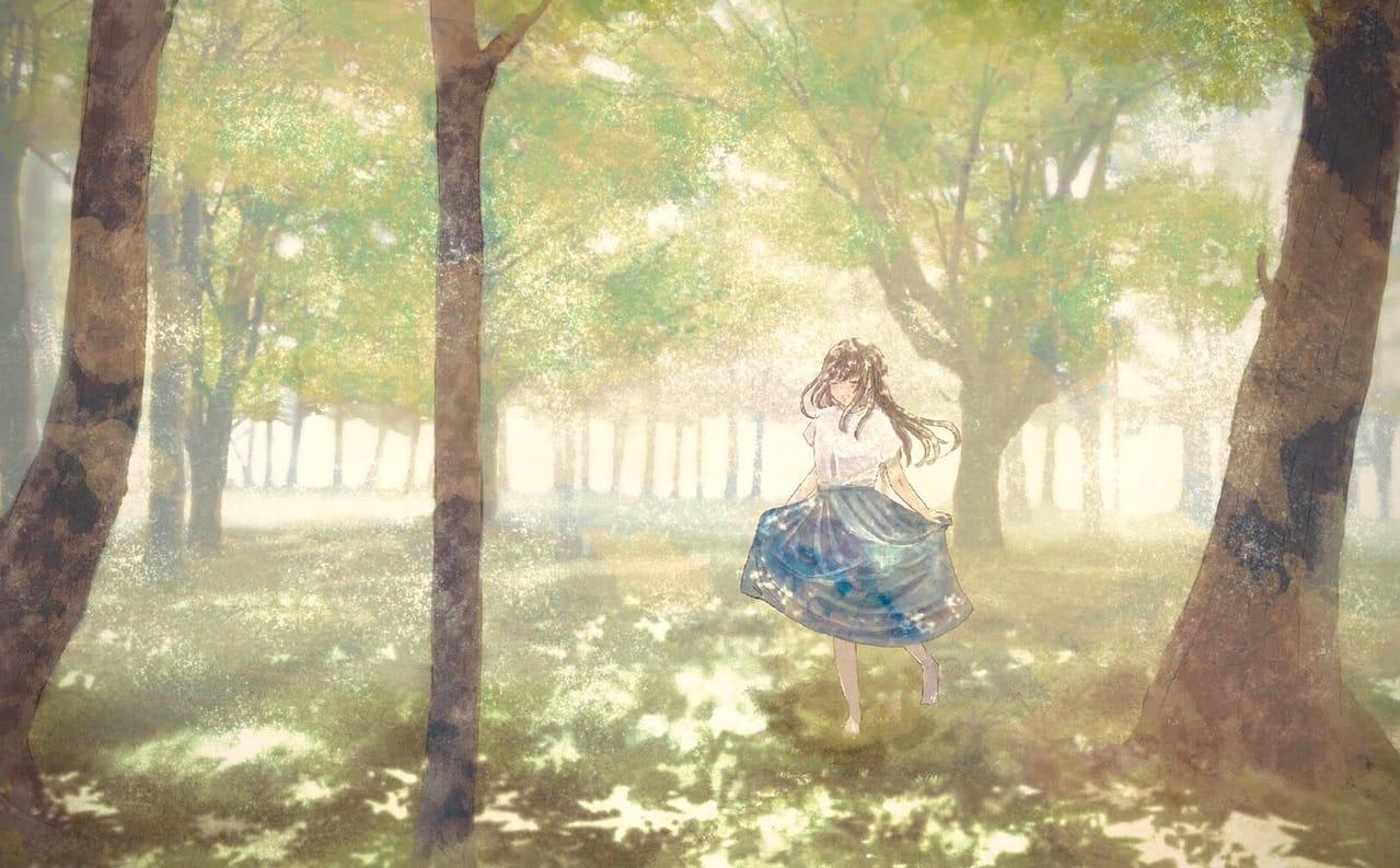 好きな人が好きだった場所 Illust of 熊谷のの background forest scenery girl 幻想風景