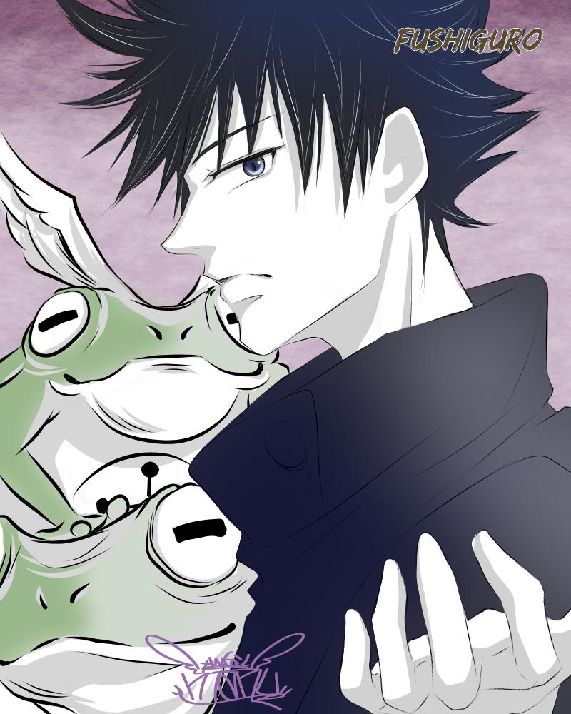 呪術廻戦♪   伏黒kunとカエル♪ Illust of Manu medibangpaint カラー JujutsuKaisen digital illustration Megumi_Fushiguro color