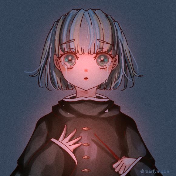 Failing Grade Illust of Marfy impasto witch きらきら kawaii girl tears