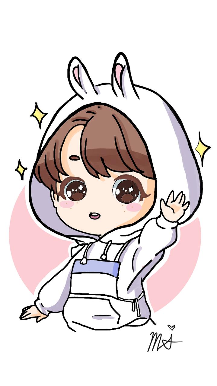 Jungkook Rabbit Costume Rinabina4 Illustrations Art Street
