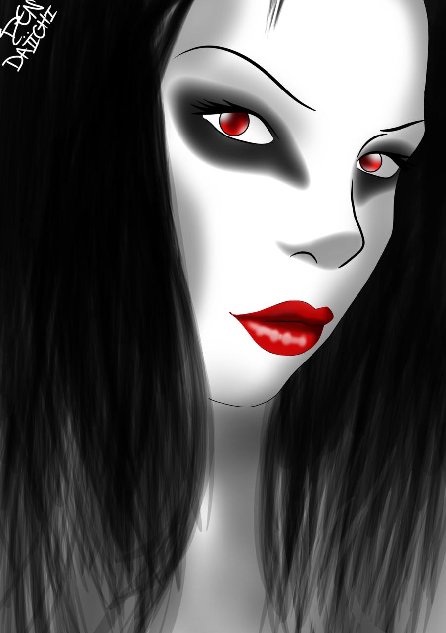 Sweet Dark. (Two Face) Illust of Den Daiichi manga girl anime