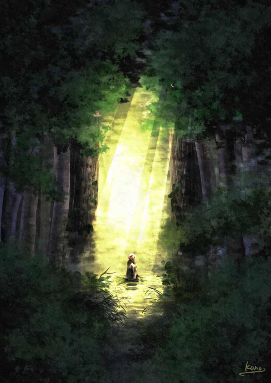 [背景ワンドロ]木漏れ日