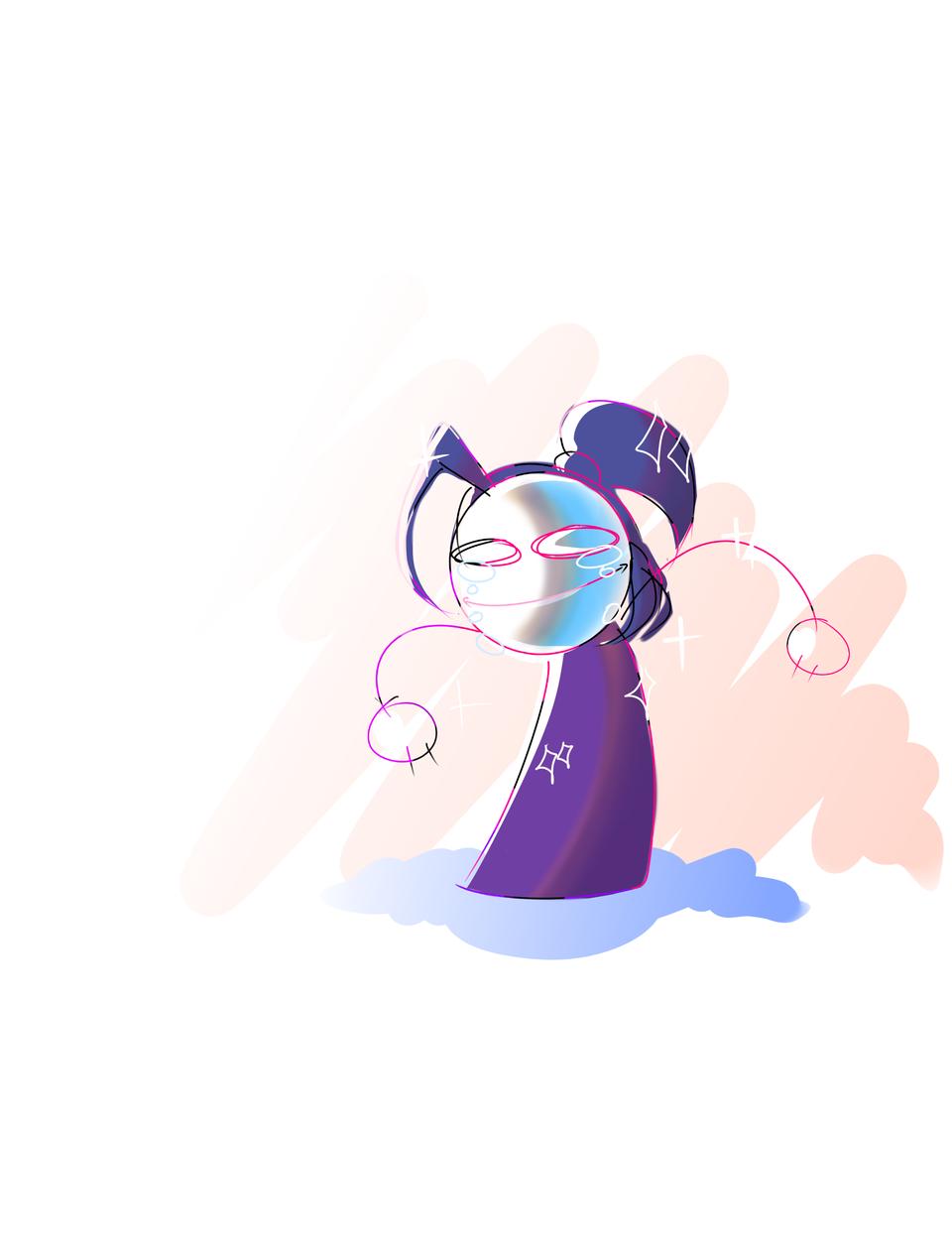 I swear I am gonna get the cr#p out of this mask Illust of Infinite stylez medibangpaint blue infinitestylez pink mehatesmask
