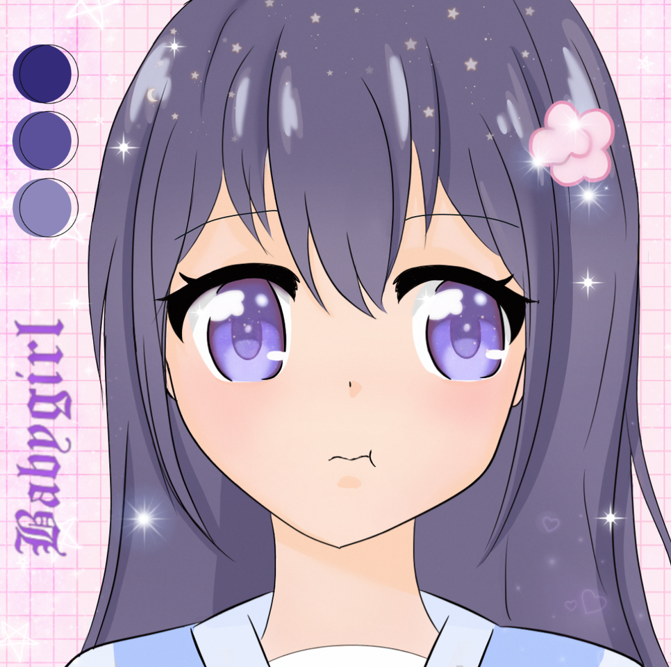 purple girl Illust of Fiona purple girl cute