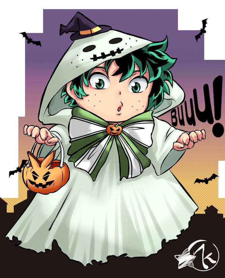 Deku halloween Illust of Karenhc art MyHeroAcademia color cute illustration MyArt Halloween digital fanart