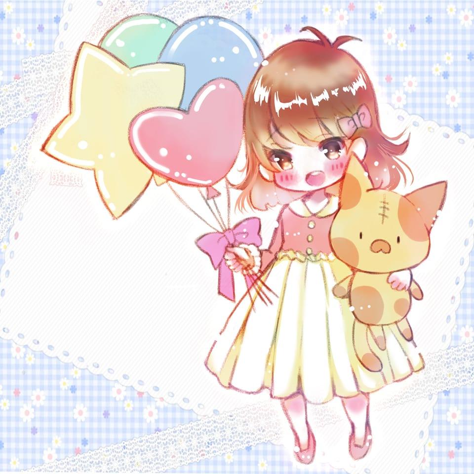 ふわふわ Illust of みつ猫 girl original