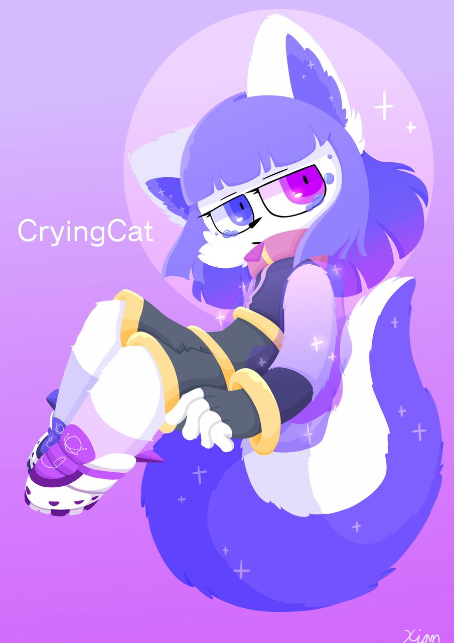 For Ghost Illust of Blackkitty medibangpaint Crying