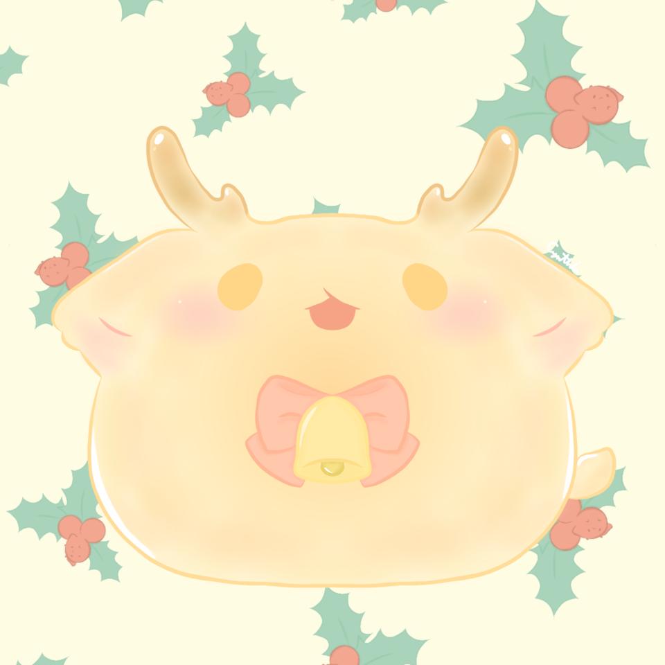 聖誕麋鹿 Illust of 亞 dec.2019Contest cute illustration Ar Christmas original 聖誕賀圖 lovely