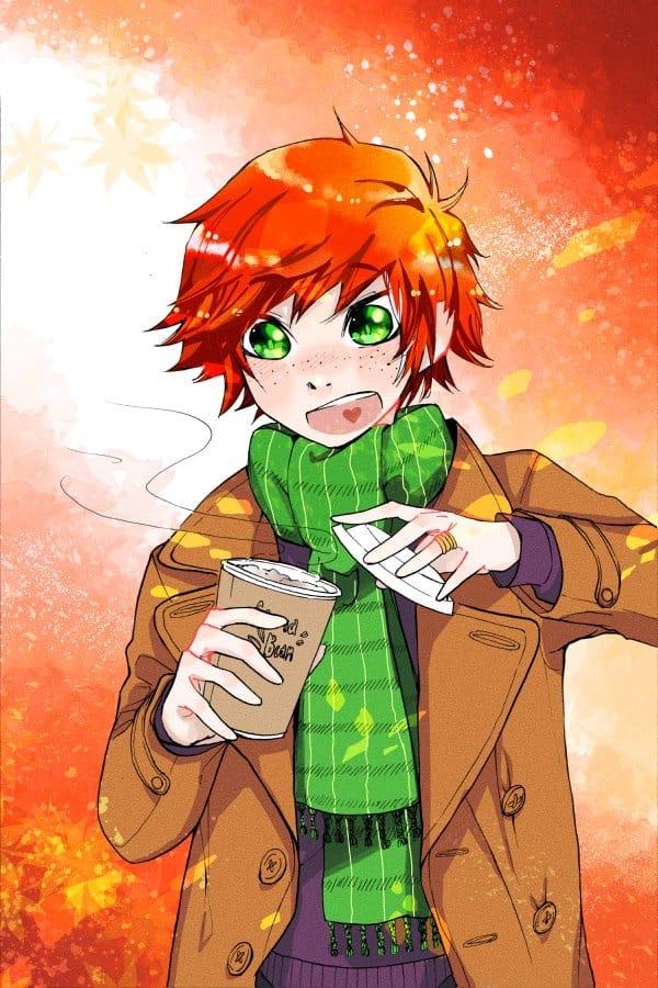 Autumn Chai Illust of Nass medibangpaint anime oc digital original autumn boy