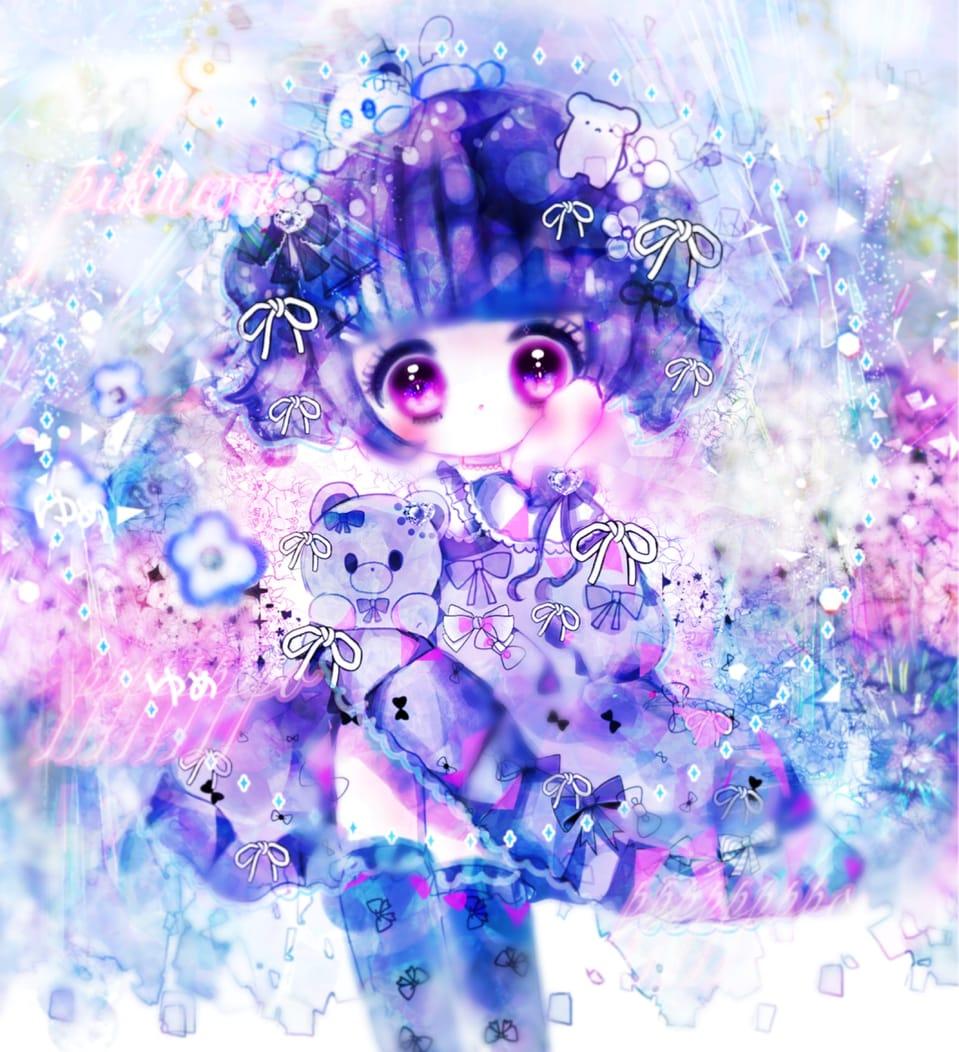 ドレスを着て世界が変わったの Illust of ぴふわ girl デフォルメ 創作少女 oc original twin_ponytails ゆめかわいい chibi