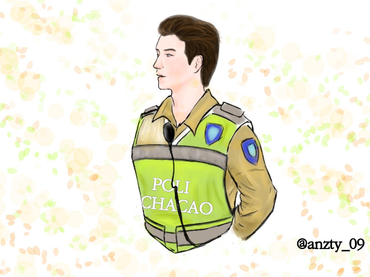 Policia de Chacao Illust of Aznty_09 medibangpaint
