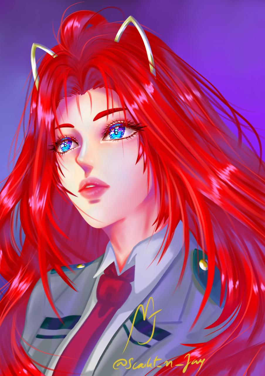 Scarlet Eleanora Sky Illust of ramen_vampire January2021_Contest:OC oc anime contest original originalart
