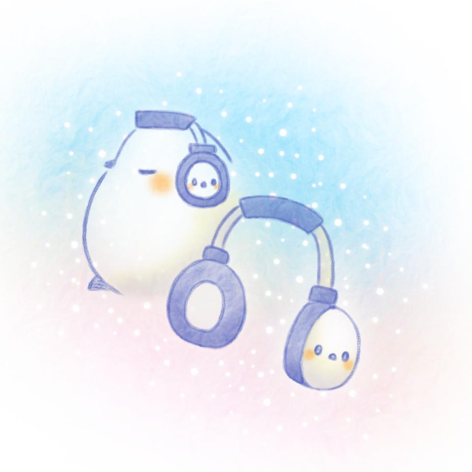 シマちゃんモデル。 Illust of 兎卯子 小鳥 original とり シマエナガ digital 小動物