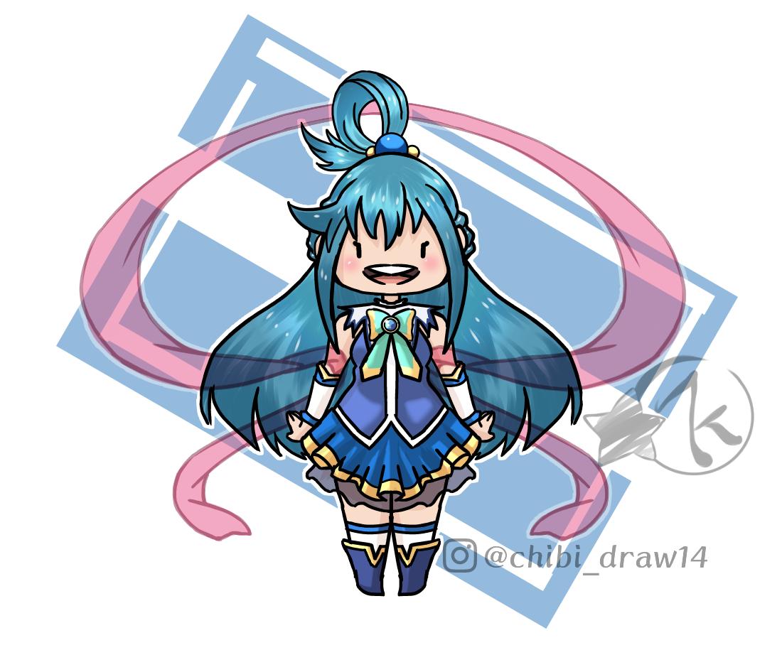 Aqua Illust of Karenhc illustration kawaii fanart digital original art drawing color chibi anime