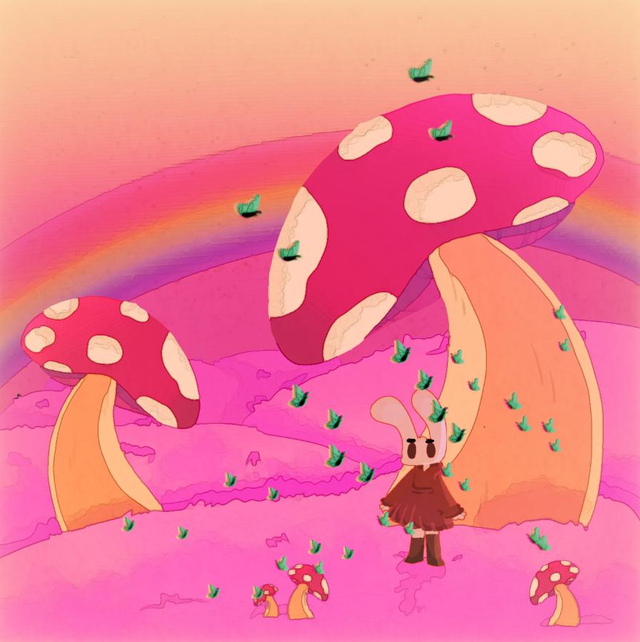 A Trippy Aesthetic Illust of 🌙🍩🍪Creative Bakery🍪🍩🌙 :v pink ibispaint bunny uwu