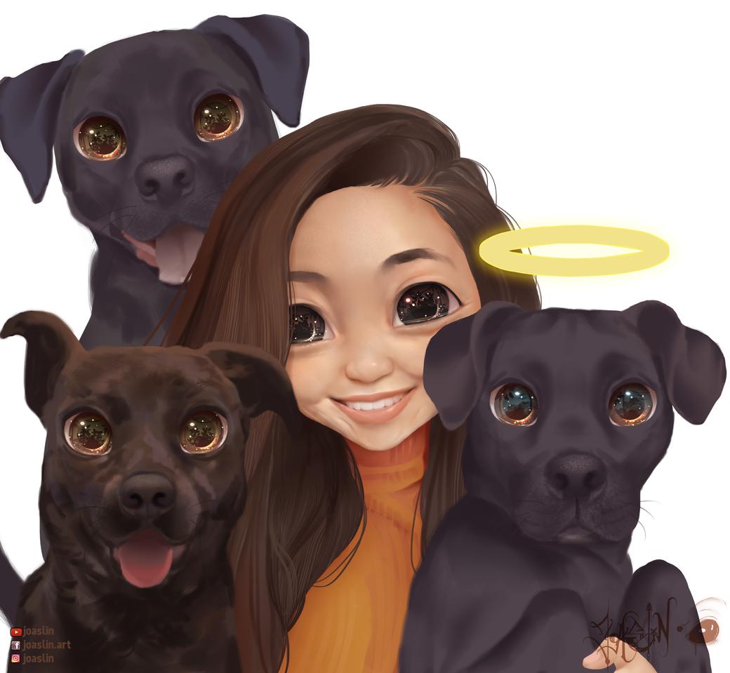 Good bois 🐶😇 Illust of JoAsLiN ARTstreet_Ranking art puppy dog oc manga original illustration kawaii digital cute