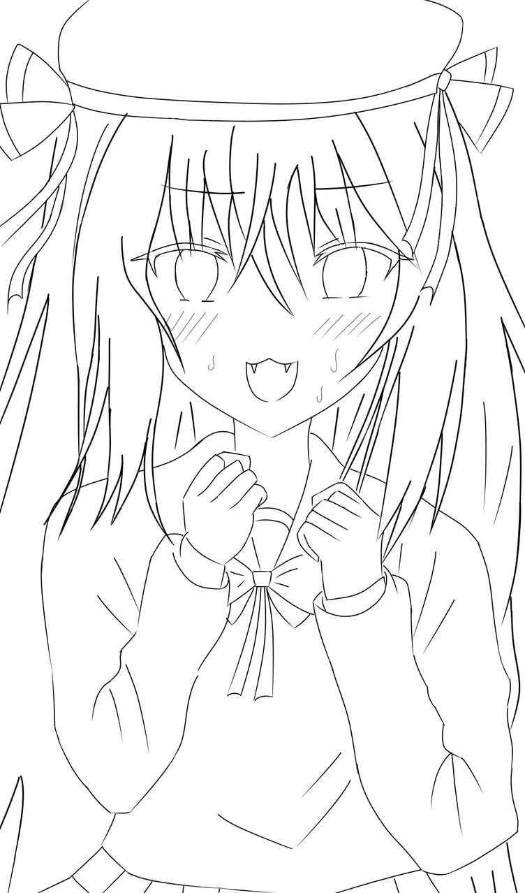 オリジナルキャラクター 線画 Illust of いぬぴん medibangpaint girl original