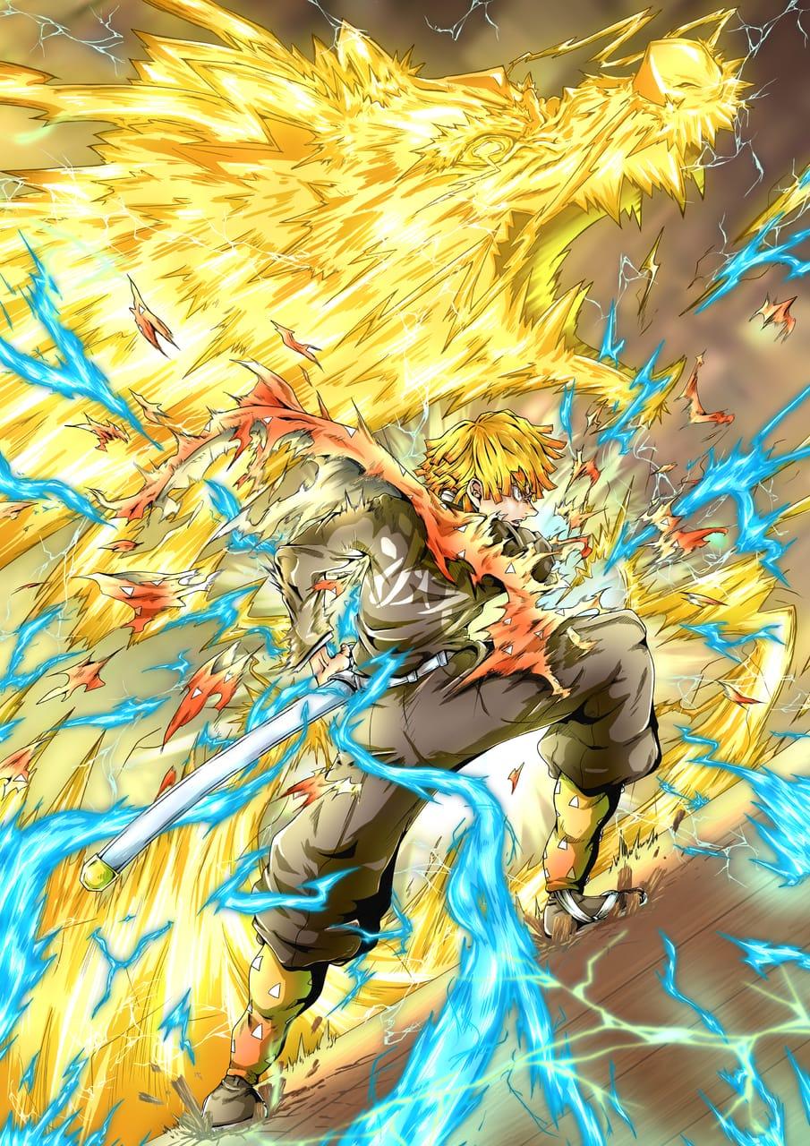 挑み続け咲いた一輪 Illust of なべっち 雷の呼吸 KimetsunoYaiba なべっち AgatsumaZenitsu 火雷神