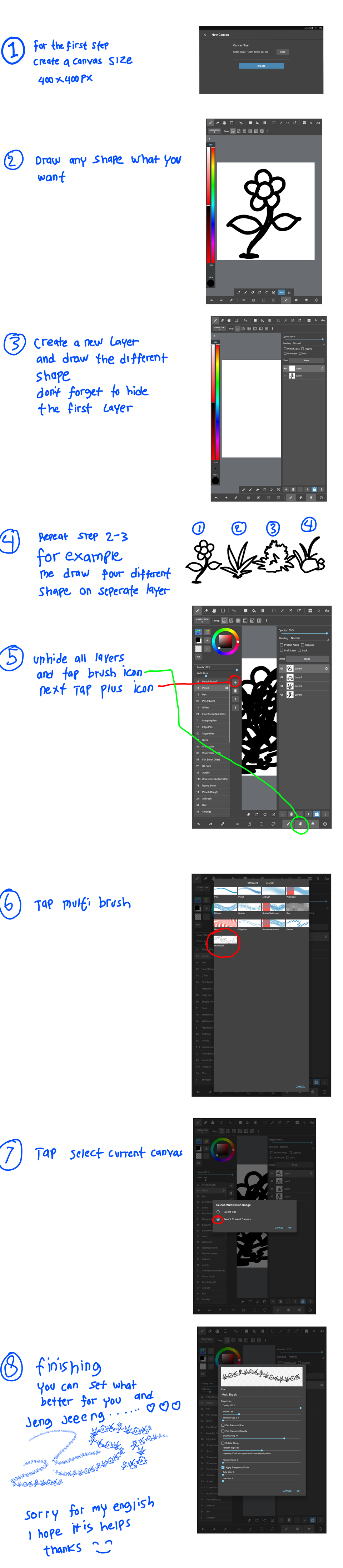 how to make multiple brushes/ multibrush Illust of bond4ng MBPtutcontest medibangpaint