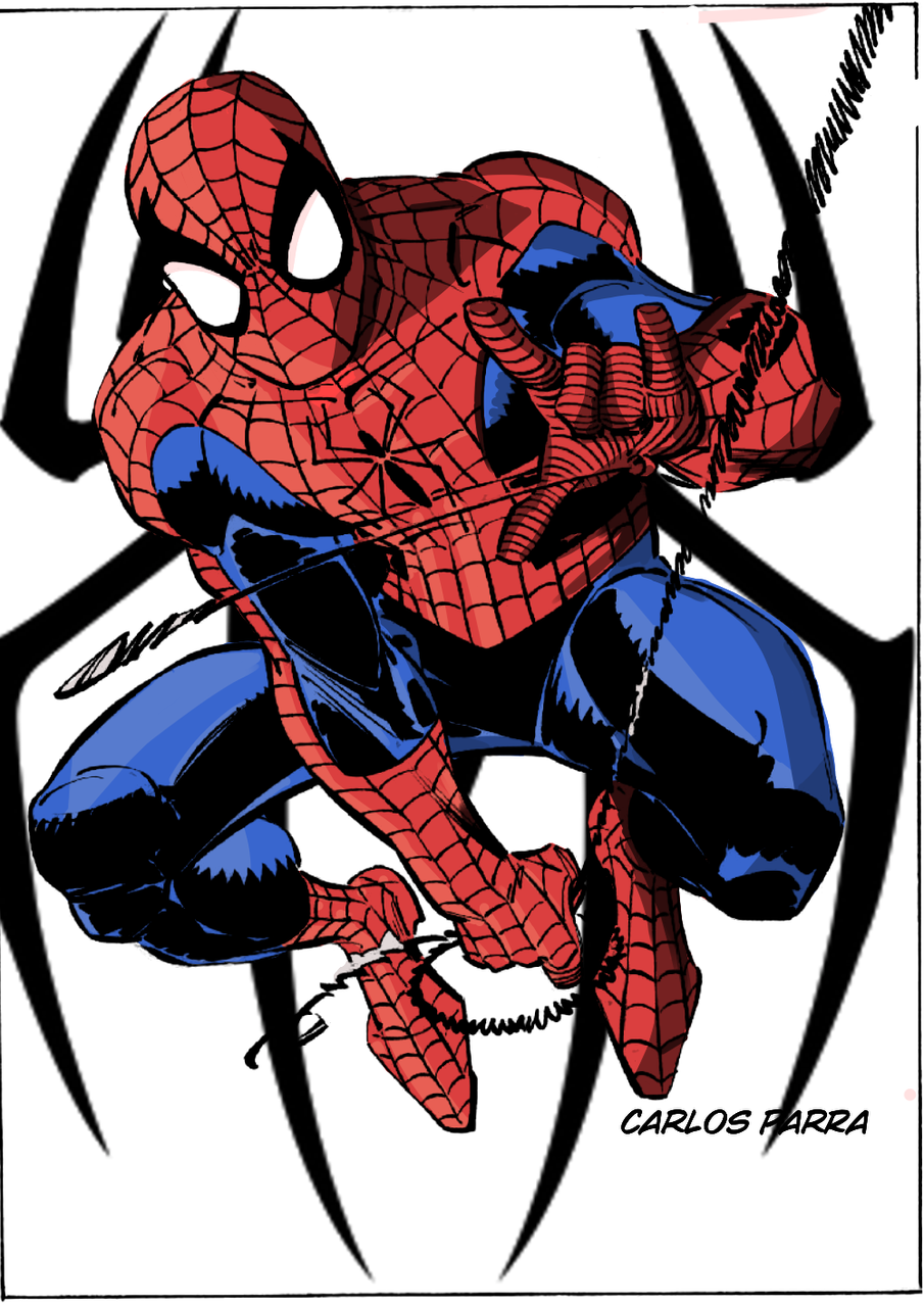 Coloreado De Spiderman Carlos Illustrations Art Street