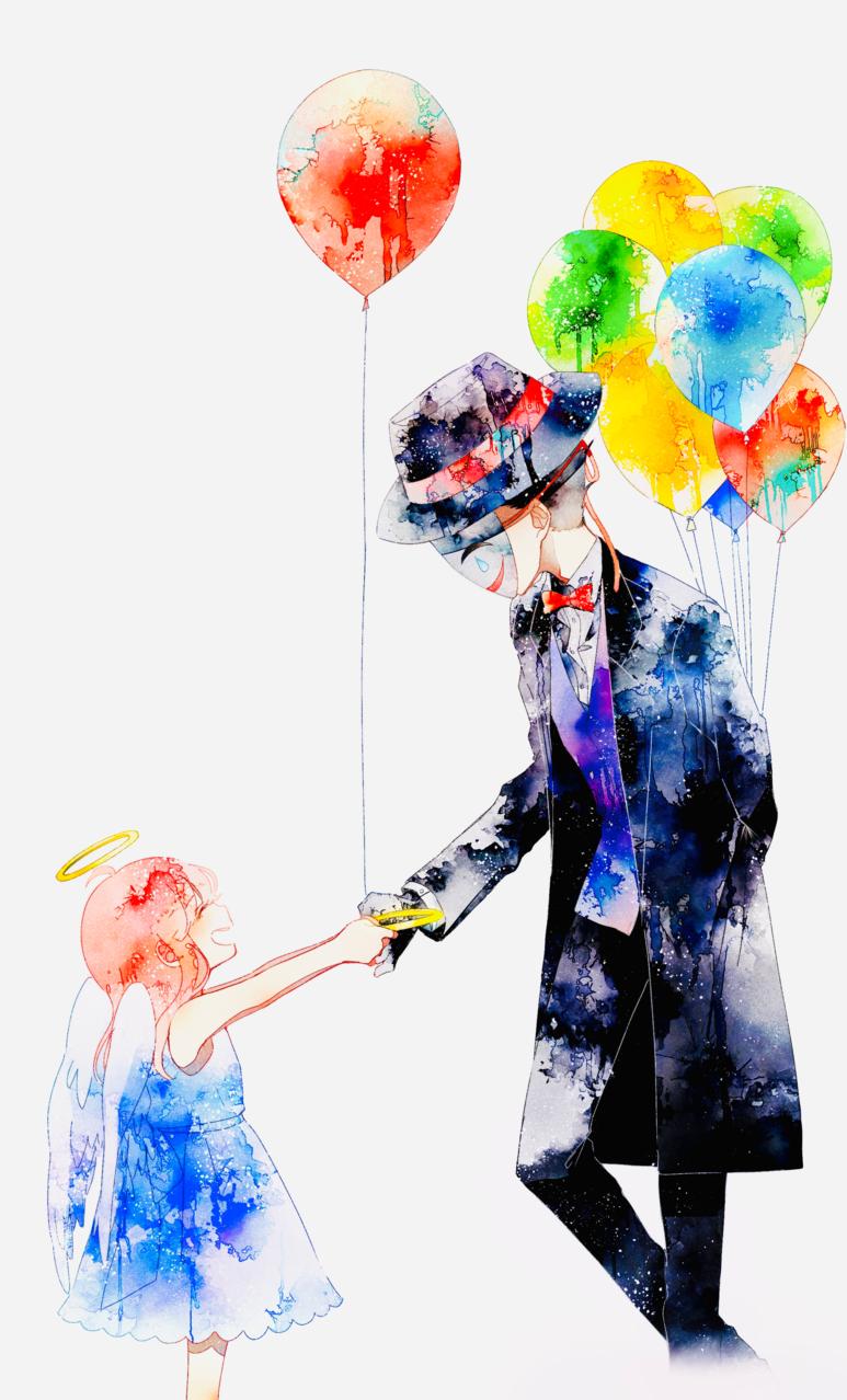 とべないあなたへ Illust of 遥川遊 blue オリジナル創作 angel oc medibangpaint watercolor girl 創作男女 original おんなのこ