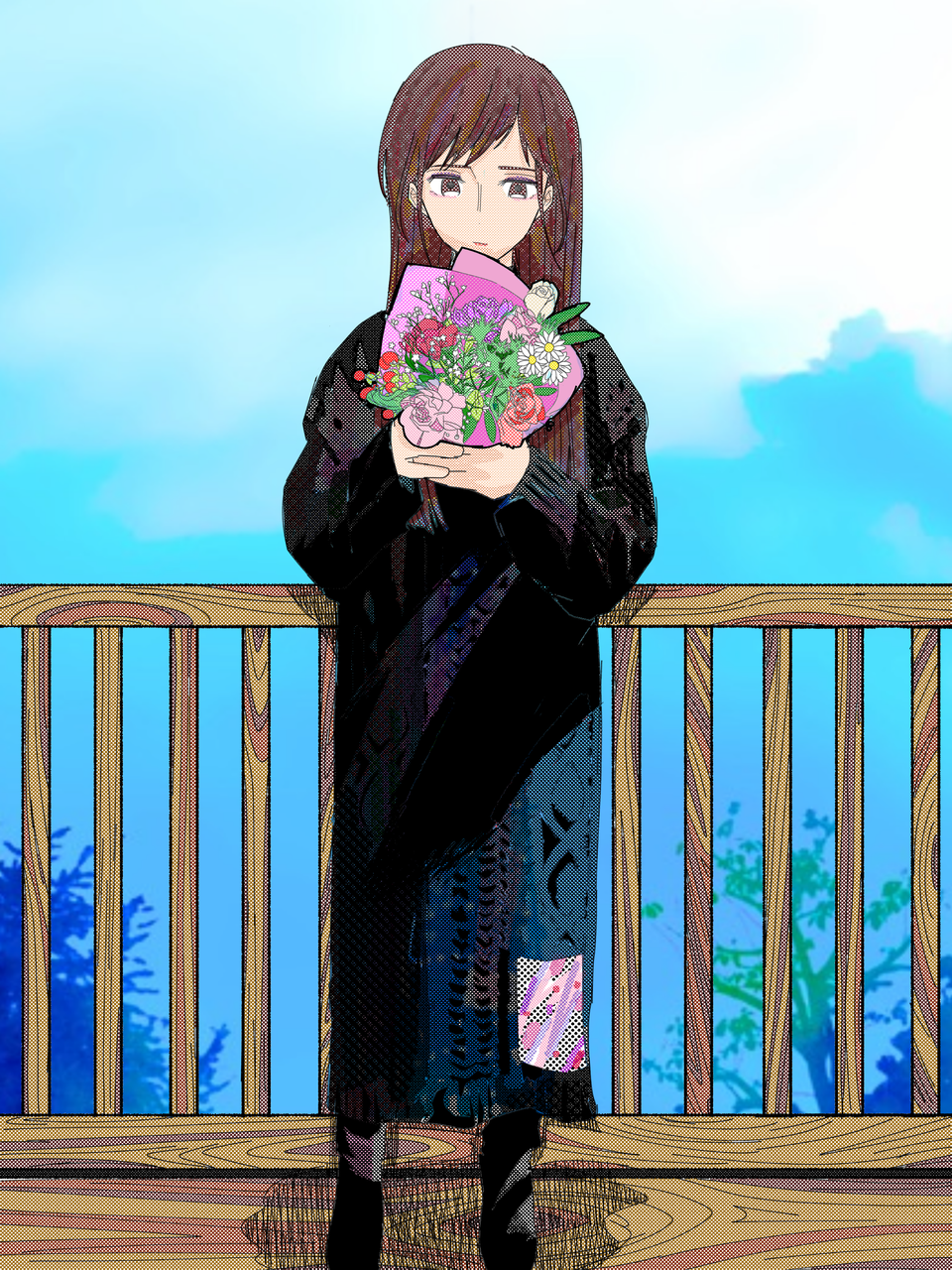 Illust of ひな太 April2021_Flower medibangpaint girl おんなのこ original oc