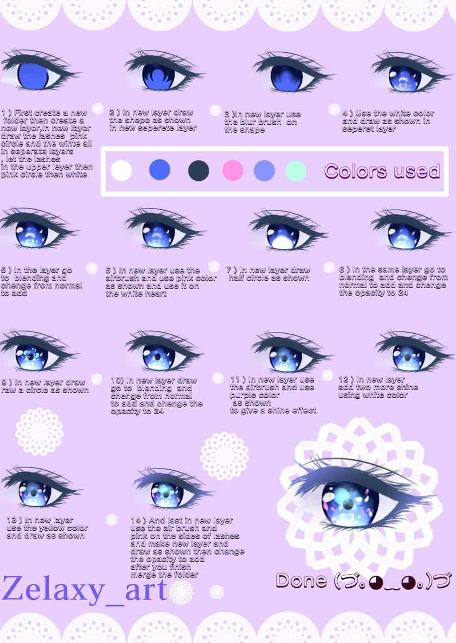 EYES Tutorial Illust of Zelaxy_art The_Challengers tutorial 講座 iPad_raffle medibangpaint メイキング eyes