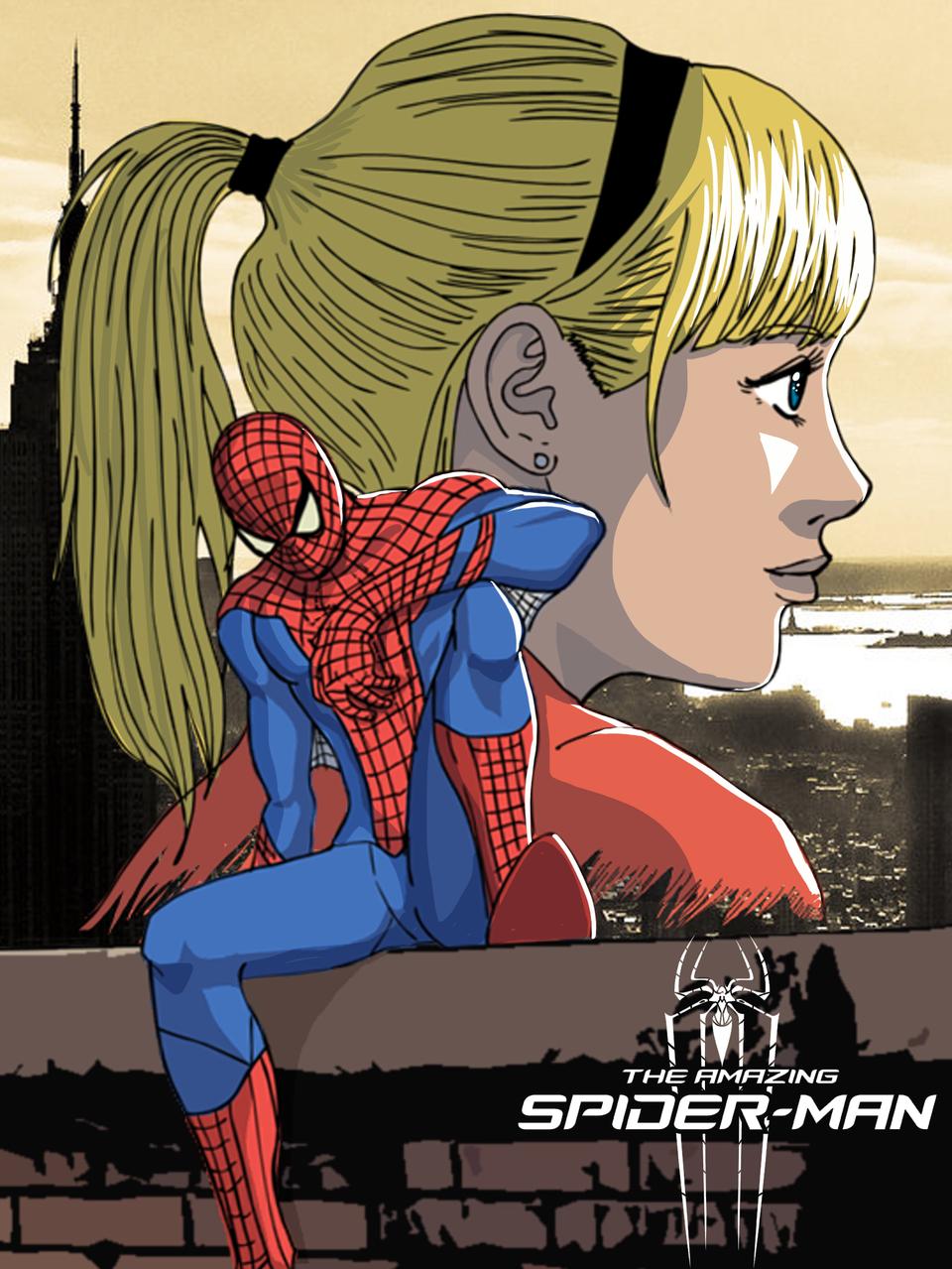 amazing spiderman Illust of Rogeru superhero illustration araña Spider-Man Ilustration spidey hombre