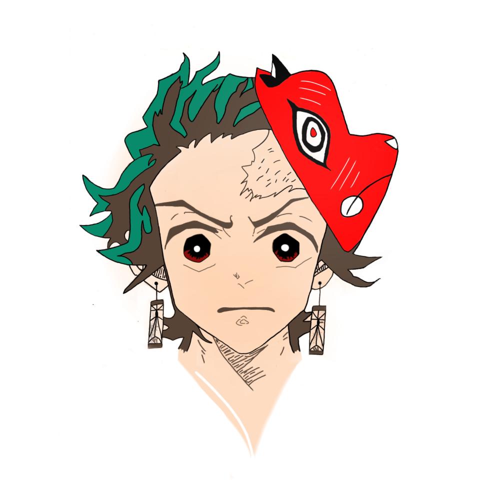 Tanjiro  Illust of Sinchan96 sci-fi DemonSlayerFanartContest anime jumppaint illustration contest medibangpaint KamadoTanjirou illustrator KimetsunoYaiba handdrawn digital