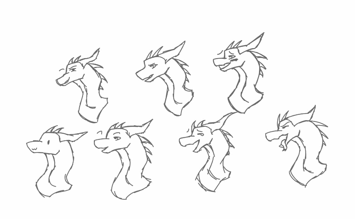 Some facial expressions  Illust of Warriorbeast