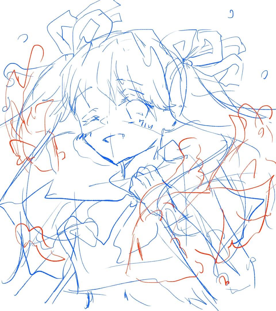 ボトルミク・ラフ Illust of Kaede0118* Whereabouts art* ボトルミク roughsketch