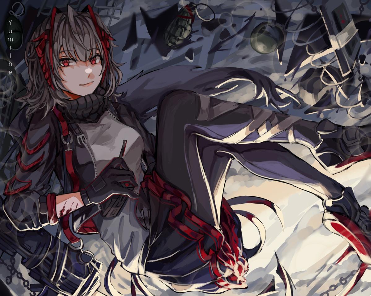 W [Arknights] Illust of yumiihe girl Arknights painting animegirl illustration fanart demon animefanart digital drawing
