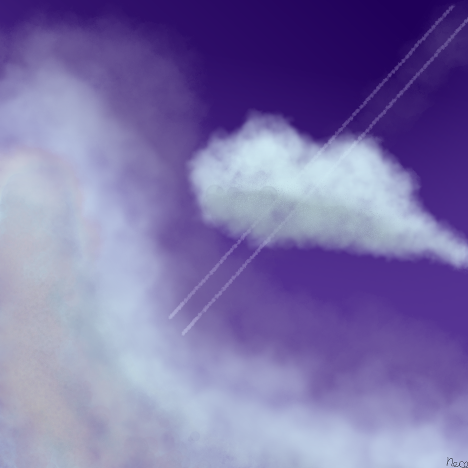 夜空 Illust of neco☆*。 medibangpaint sky night 夜空 飛行機雲