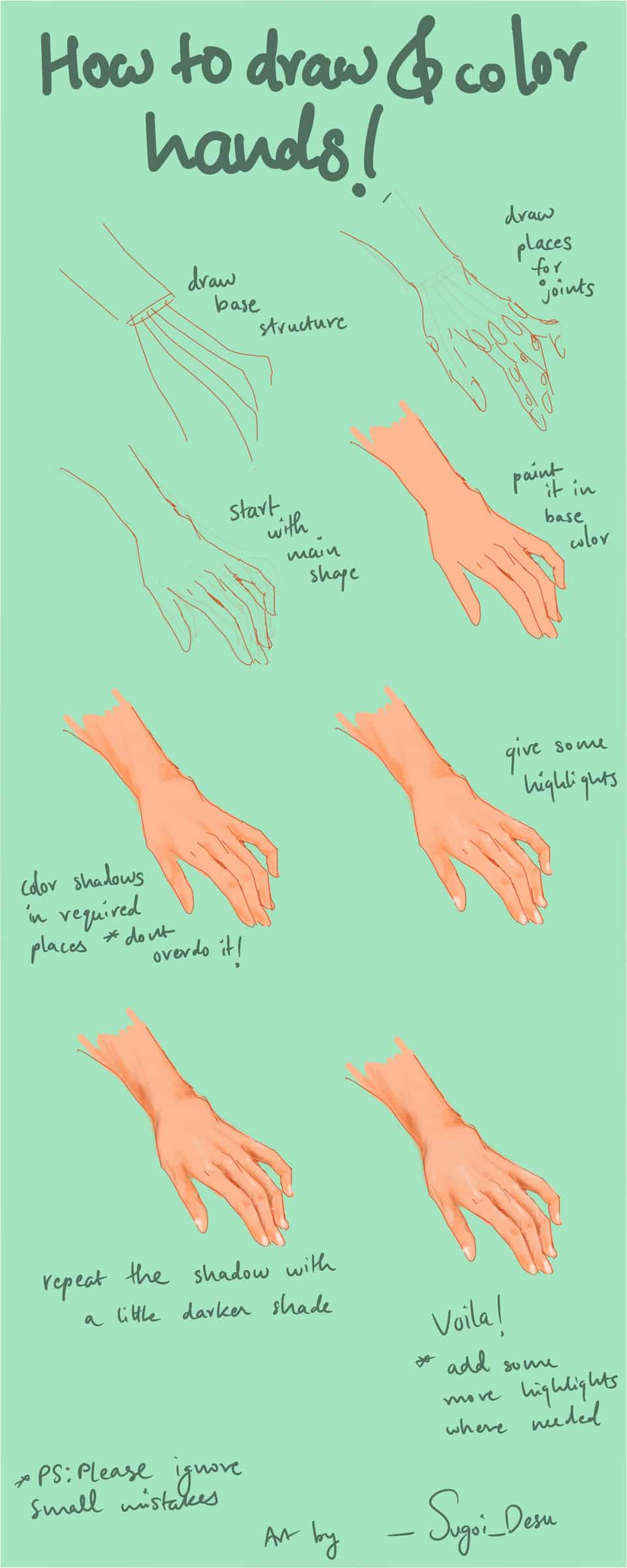 JUST A SMALL TUTORIAL ON HANDS