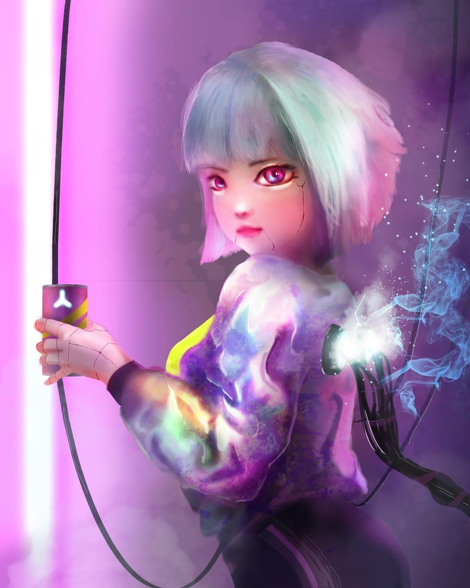 cyberpunk girl Illust of YIDO November2020_Contest:Cyberpunk January2021_Contest:OC
