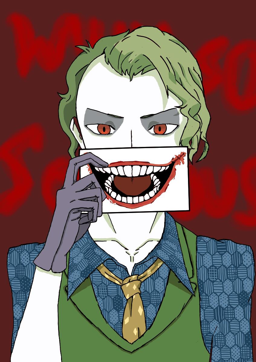 Why So Serious?! Illust of ᴋɪꜱᴜ_ᴛʜᴇ_ᴋᴀᴢᴜᴜ/ᴋᴇɪᴛʜ medibangpaint smile blue Whysoserious Joker green