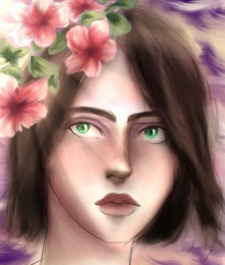 Liz Illust of GiaQuierospotifay April2021_Flower