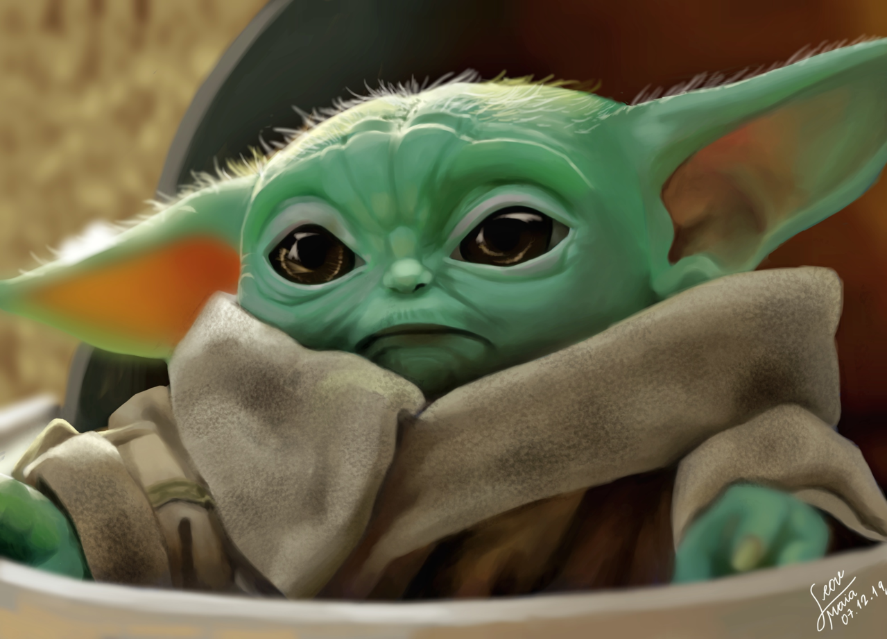 baby yoda  Illust of Gih maia medibangpaint drawing digitaldrawing cute realisticdrawing