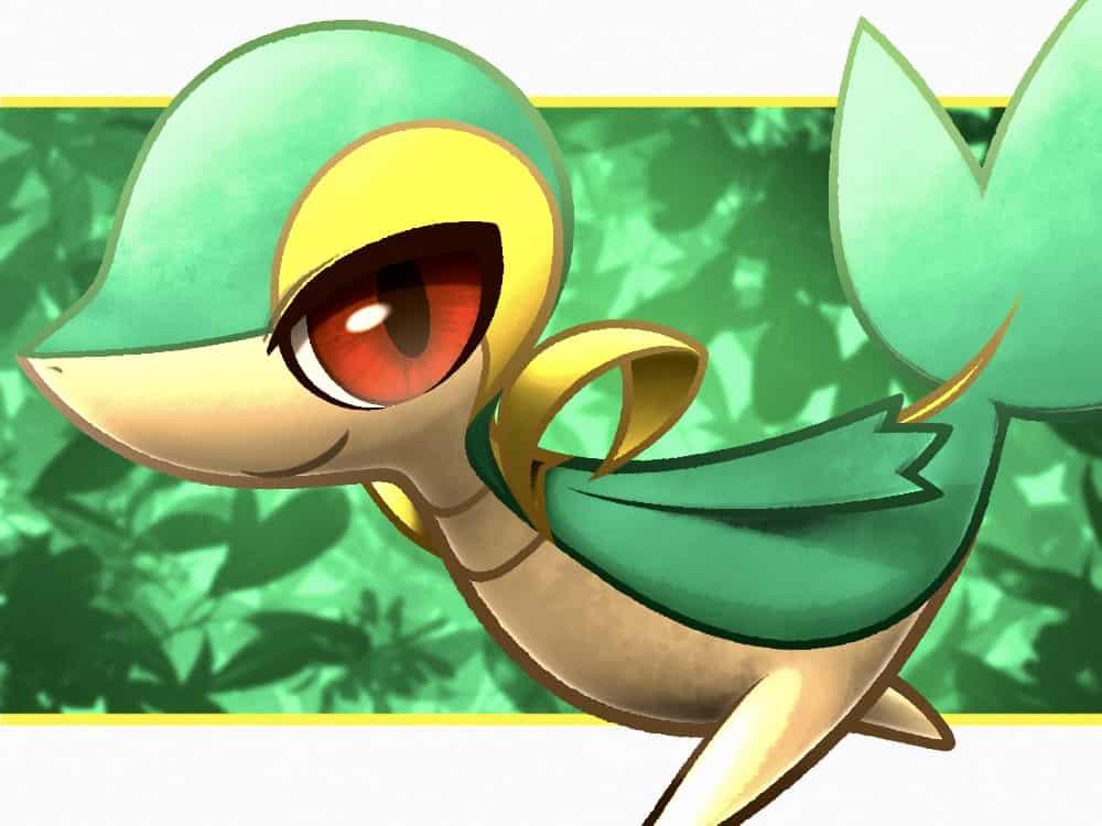 ツタージャ Illust of ピカタ ツタージャ pokemon snivy