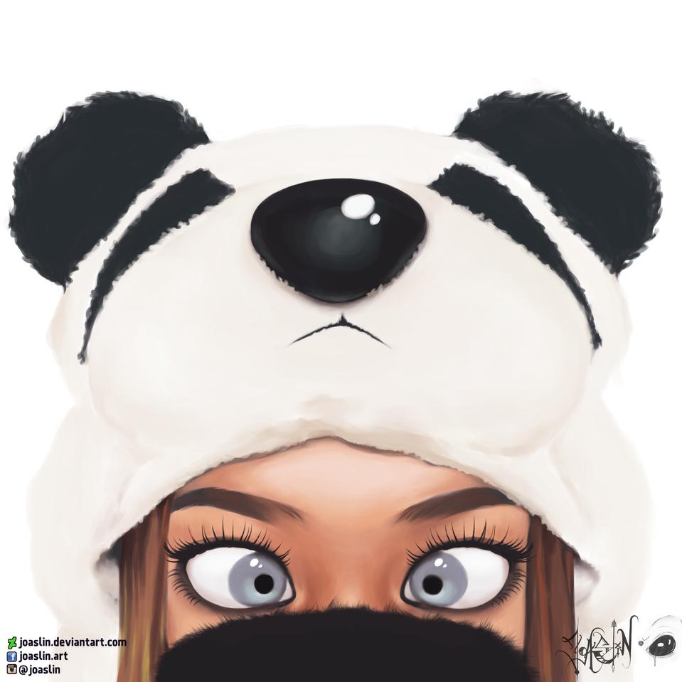 🐼 Panda 🐼 Illust of JoAsLiN art eyes girl furry digital original illustration panda oc cute