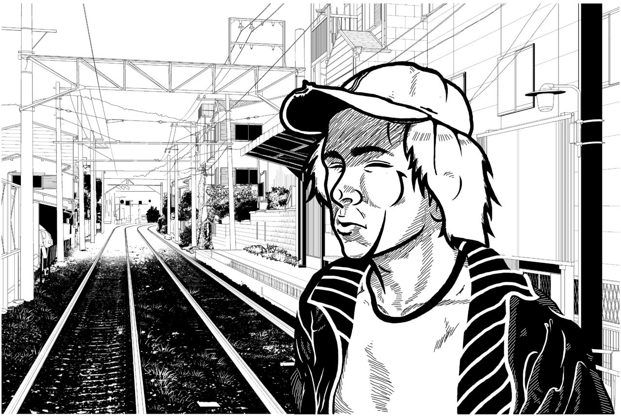 Takayuki Illust of Petra Background_Image_Contest BackgroundImageContest_Using_Division train oldman