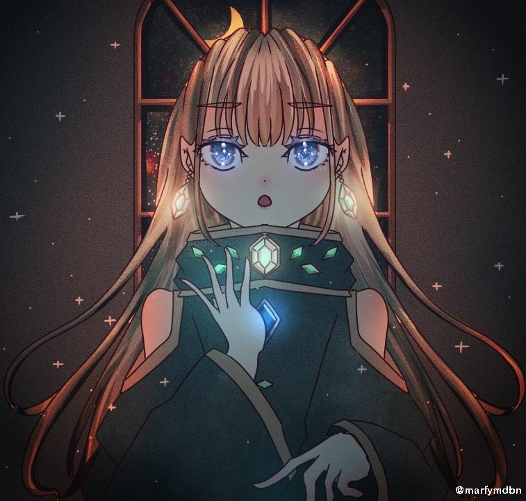 bright night Illust of Marfy 宝石 メルヘン きらきら kawaii girl diamond