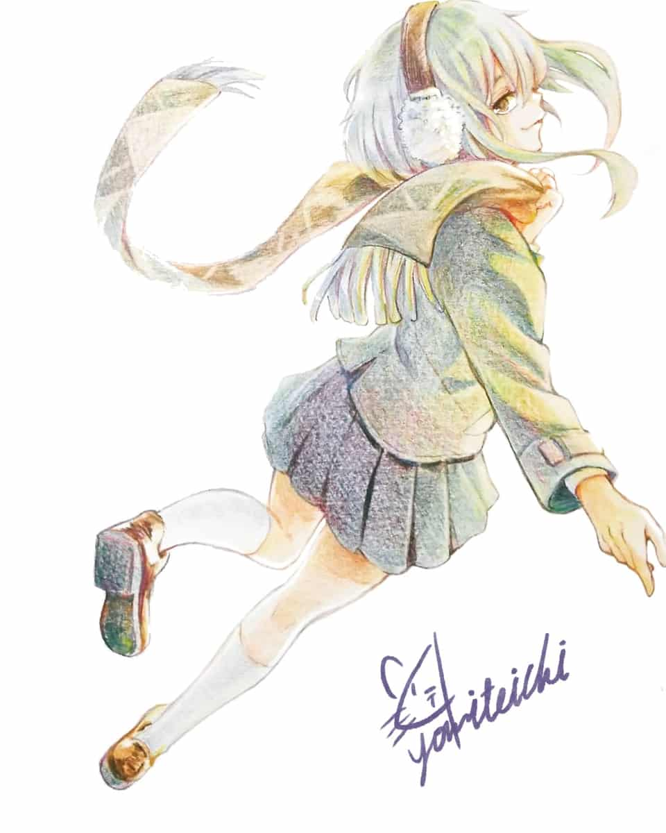 🐧 Illust of 陳田こころ アナログ絵 coloredpencil illustration girl original