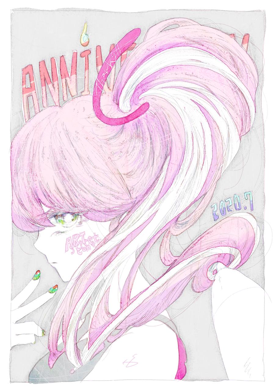 ANNNIVERSARY Illust of 氏← July2020_Contest:Anniversary メディバンペイント pinkhair